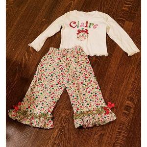 Christmas pajamas for Claire
